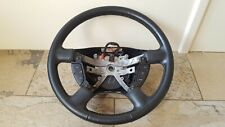 03-06 Ford Expedition Explorer Mercury Mountaineer Black Leather Steering Wheel
