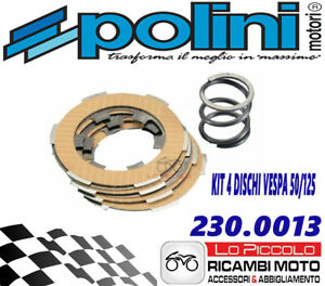 230.0013 SERIE 4 DISCHI FRIZIONE POLINI + MOLLA RINFORZATA VESPA 50 PK S XL 125