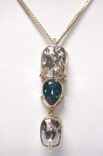 Retired Haven Crystal Pendant, Green, Gold Plated Swarovski Jewelry 5348360