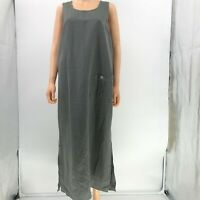 pellini overall dress gray long sleeveless womens sz L Large  LW24