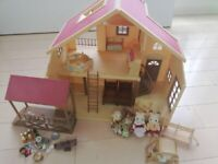 Sylvanian Families Big Tree House In Baby Square Cute Girl  from Japan
