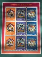 "Guyana 1996 Disney ""Donald'S Super Sports"" Stamp set - Mnh"