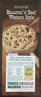 1963 Franco-American Macaroni With Cheese Sauce Print Ad Casserole Recipe