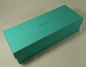 "Tiffany & Co Blue Gift Box Rectangle Cardboard 10.5"" x 4"" x 3"" Plus Tissue Paper"