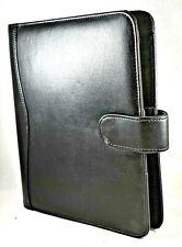 Vintage 1994 Day Timer Black Faux Leather Planner 7 Ring Binder Snap Closure 9x7