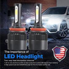 1 Set 110W H11 COB LED 16000LM Auto Car Headlights Kit Driving Bulbs Lamps 6000K