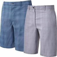 Callaway Golf Glen Plaid Flat Front Mens Stretch Golf Shorts