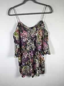 Zimmermann NEW WITHOUT TAGS Womens silk floral playsuit romper size 1