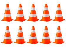 10er Set Verkehrskegel Warnkegel Markierungshütchen Pylonen Verkehrshütchen NEU!