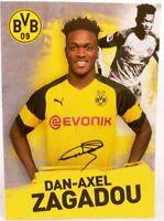 Dan-Axel Zagadou + Autogrammkarte 2018/2019 + Borussia Dortmund + AK201904 +