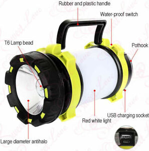 Camping Lantern Rechargeable Alpswolf Camping Flashlight 4000mAh Power Bank NIB