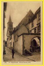 cpa RIQUEWHIR (Haut Rhin) Maison WOELFLIN Hotte de VIGNERON en bois Tonnelier