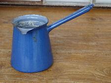 Q1114 EMAIL Kochtopf - Emaille TOPF - Stielkasserole - blau