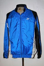 VTG Nike Gray Tag Blue Black White Shiny Full Zip Windbreaker Jacket Sz XL