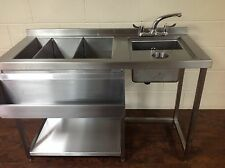 More details for prep cocktail bar station, stainless steel, bar sink & fully insulated ice well