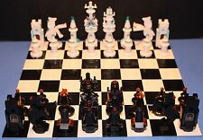 LEGO® brick Custom GIANT CHESS SET Black vs. White + INSTRUCTIONS  1,381 pieces!