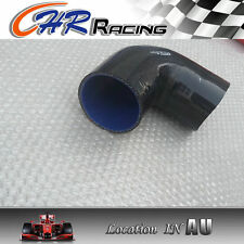 "Silicone 90° degree Elbow hose 89mm 3.5"" ID INTAKE TURBO INTERCOOLER PIPE Black"