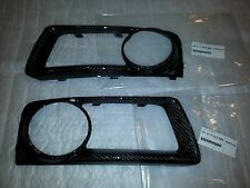 BMW X5M X6M FRONT BUMPER FOG COVER OEM REFINISHED IN REAL CARBON FIBER