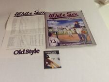 White Sox Game Program with Roster Sheet September 30,1990 Last Game @ Cominsky