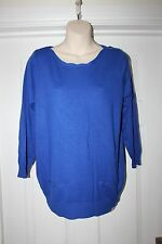 Ladies Blue Stretchy Top Size 14 BHS W Jumper