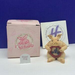 Holland studio craft collectible pig figurine pigtails UK sculpture Road Hog vtg