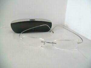 Unisex Silhouette Silver Striped Rimless Eye Glasses & Case 7562 10 53 19 150