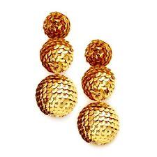 Gold Sequin Disco Ball Statement Earrings -UK SELLER