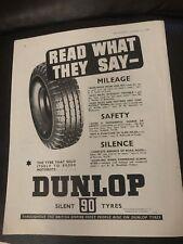 88775db5d50 Original 1930s Dunlop Tyres Vintage Australian Print Advertising