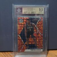 2019 Zion Williamson Rookie Card Mosaic Orange Reactive Prizm Beckett BGS 9.5