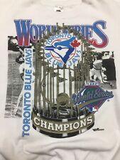 Vtg Toronto Blue Jays Crewneck Sweater SizeXL MLB Champions 92-93 World Series 6