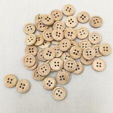 Wood Button 12.5mm  50pcs