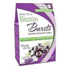 NeoCell BIOTIN BURSTS 10000 mcg - 30 Soft Chews ACAI BERRY - Hair, Skin, Nails