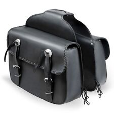 Real Leather Motorbike Touring Saddle Bag Motorcycle Waterproof Panniers Box