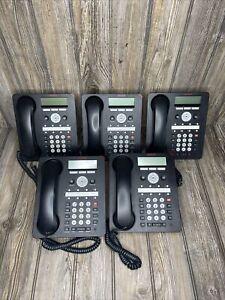 Lot of 5 Avaya 1408 Black Digital Business Office IP Phones 1408D02A-003