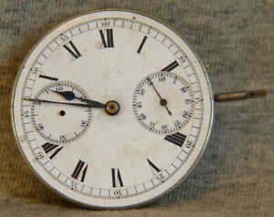 running hunting case chronograph movement w/ 60 minute register