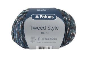 Patons Tweed Style-  VARIOUS SHADES - 50g balls