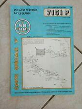 1996 CARTE SHOM special P- NAVIGATION-anse kernic/île grande-7151 P