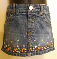 Floral Denim Mini Skirt by Healthtex - Girls 24M