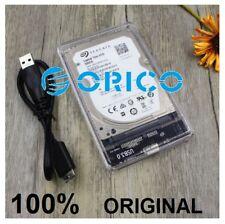 """Boitier transparent externe USB 3.0 LED SATA 1.8"""" 2.5"""" pour disque dur HDD SSD"""
