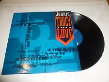 """JEANIE TRACY - If this is love - 1994 UK 4-track 12"""" vinyl single"""