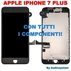 DISPLAY+TOUCH SCREEN +FRAME+FOTOCAMERA PER APPLE IPHONE 7 PLUS A1661 A1784 NERO