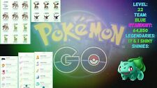 Pokemon Go Account 5 Virizion 6 Terrakion 3 Giratina 2 Darkrai 1 Shiny 17 Total!