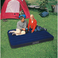 "Inflatable Airbed Mattress Blow Up Intex 8.75"" Camping Full Size Raised Air Bed"