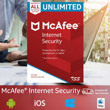 McAfee Internet Security 2018 UNLIMITED PC/MAC/ANDROID 1YEAR WORLDWIDE Antivirus