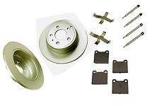Volvo 850 C70 S70 V70 rear ceramic brake pads, zinc plated rotors & hardware
