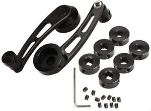 AUXMART 2Pcs Universal Aluminum Alloy Car Window Handle Winder Riser  Winder Cra