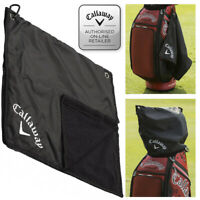 Callaway Golf Bag Rain Hood Golf Towel 17''x 17'' - Black NEW! 2020