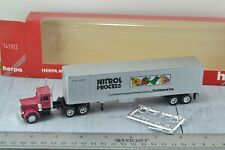 Herpa Peterbilt Tractor Trailer Nitrol Process 1:87 HO Scale