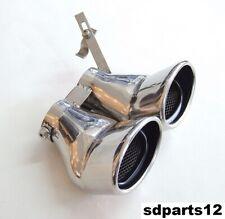 Terminale Scarico Marmitta Doppia Per Mercedes Benz AMG C Classe W203 C240 C320