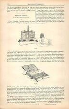 Plume électrique de Thomas Edison & Crayon Voltaïque USA GRAVURE OLD PRINT 1880